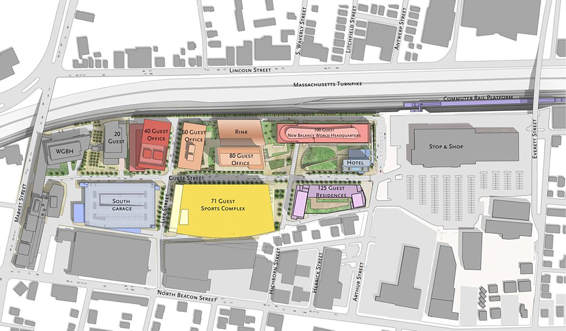 Map of Boston Landing Development
