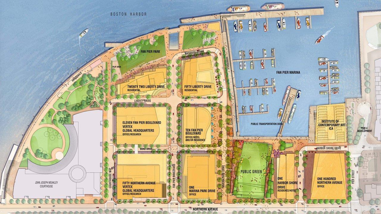 Fan-Pier Map, Seaport District, Boston, MA