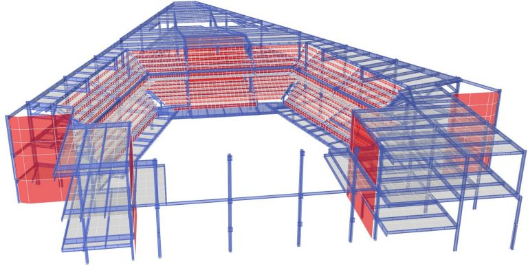 3-D Finite Element Model of the Fenway Theater