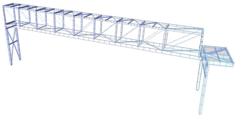 3-D Finite Element Model of the bridge